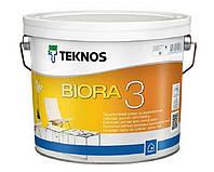 Краска акриловая TEKNOS BIORA 3 для потолков белая (база 1) 9л