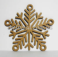 """Заготовка деревянная """"Снежинка 9"""", 10 см, толщина 2,5 мм"""