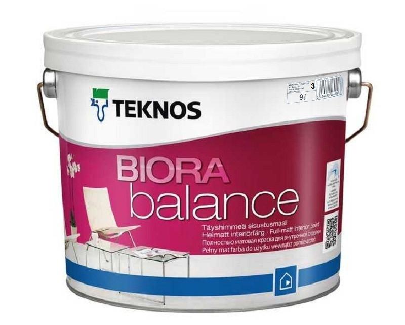 Краска акриловая  TEKNOS BIORA  BALANCE интерьерная транспарентная (база 3) 9л
