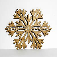 """Заготовка деревянная """"Снежинка 10"""", 11 см, толщина 2,5 мм"""