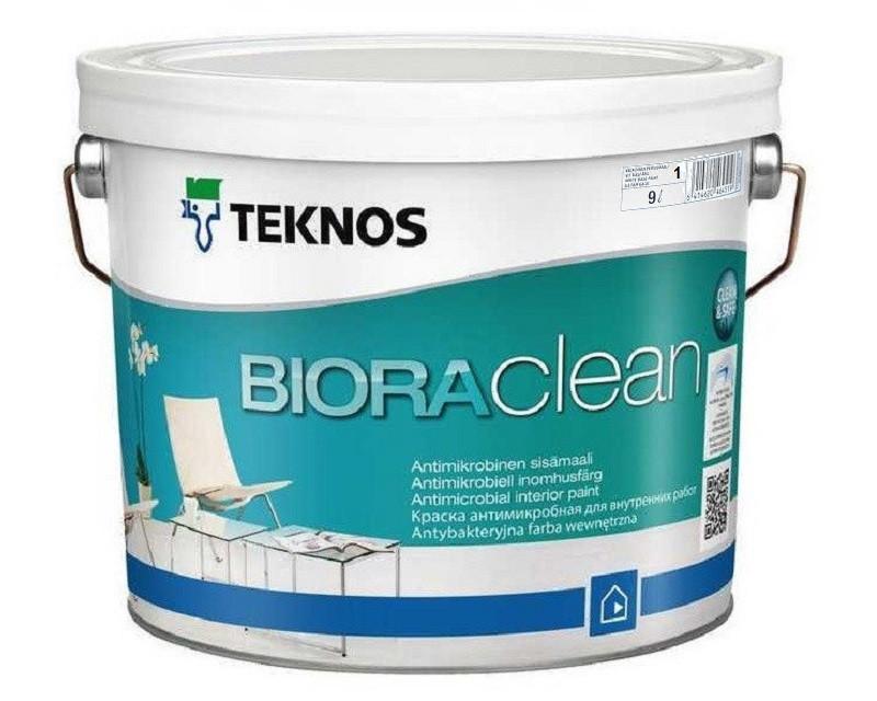 Краска акриловая TEKNOS BIORA CLEAN антимикробная белая (база 1) 9л