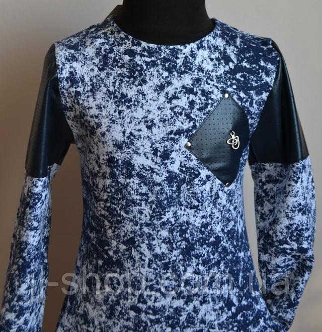 Детское платье для девочки синего цвета
