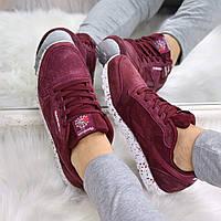 Кроссовки женские Reebok Classic бордо 3579, спортивная обувь