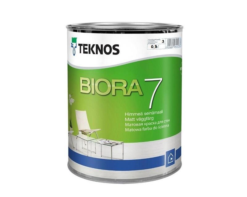 Краска акриловая TEKNOS BIORA 7 интерьерная транспарентная (база 3) 0,9л