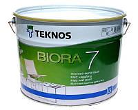 Краска акриловая TEKNOS BIORA 7 интерьерная транспарентная (база 3) 9л