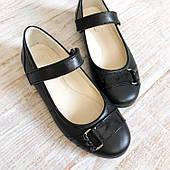 Кожаные детские туфельки на девочку 29,31 размеры