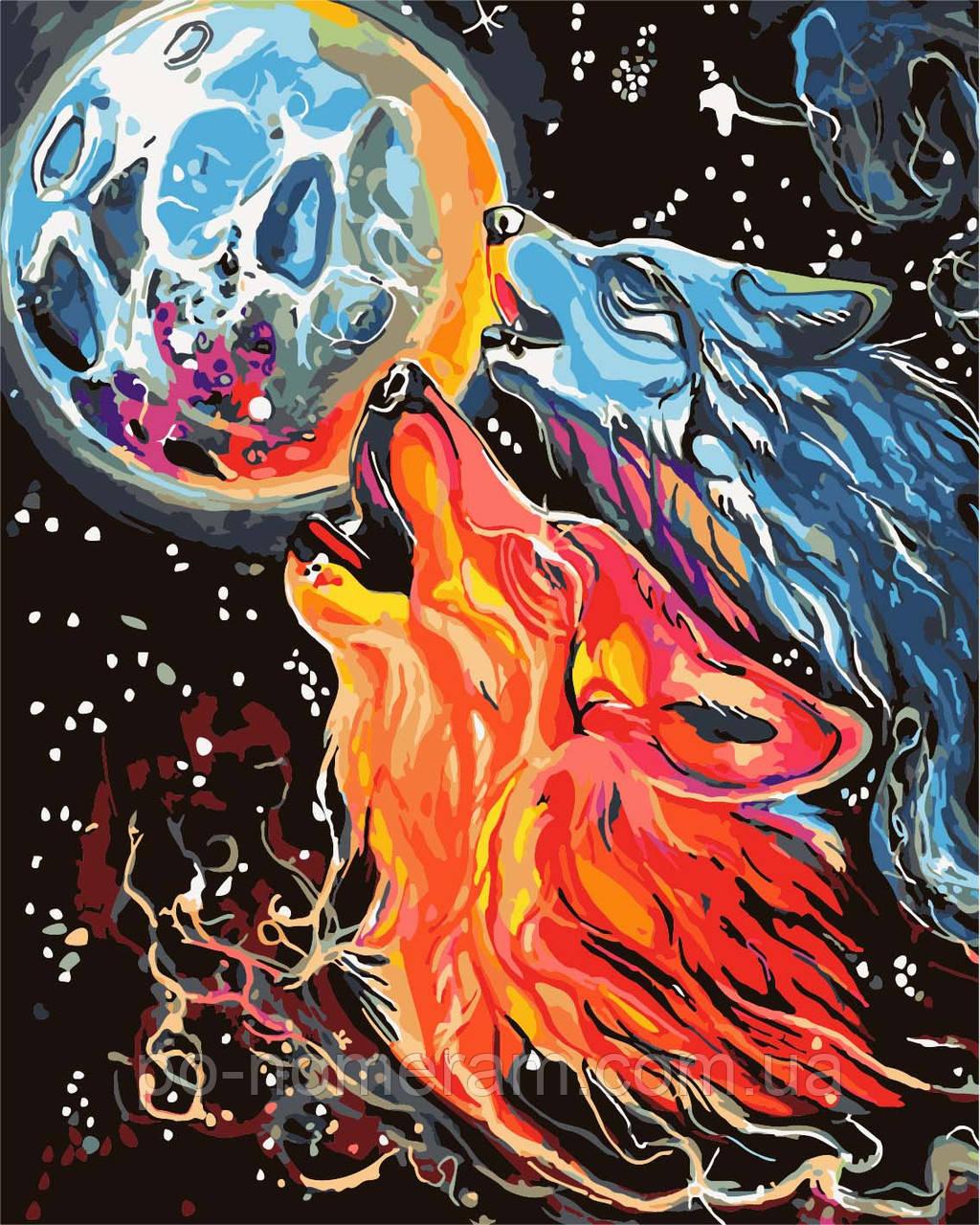 Раскраска по номерам Идейка Космические волки Худ Кэтти ...