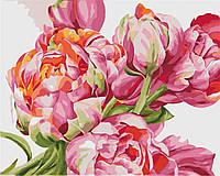 Картина раскраска по номерам без коробки Идейка Коралловые пионы Худ. Диана Тучс(KHO2081) 40 х 50 см (Без
