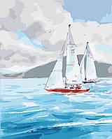 Картина раскраска по номерам без коробки Идейка Ласковое море (KHO2726) 40 х 50 см