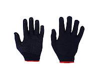 Перчатки хозяйственные синие плотные