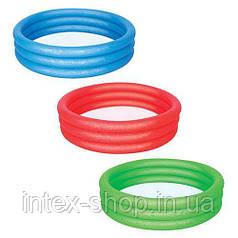Детский бассейн Bestway 3 кольца (51025) 122-25 см (Синий)