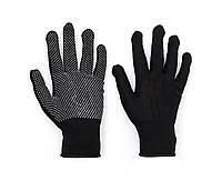 Перчатки хозяйственные микроточка черные