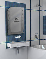 Зеркало для ванной комнаты 500х800 мм Ф317