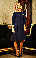 """Повседневное женское платье """" Жаклин """"  тёмно-синего цвета, фото 1"""