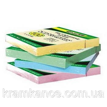 Бумага 4OFFICE 4-423 с липким слоем 76х76мм 100л, фото 2