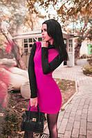 Платье-гольф, платье женское приталенное мини, платье с закрытым горлом, разные цвета и размеры.