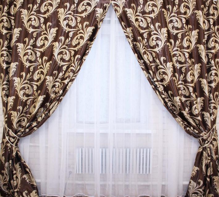 Комплект красивых  штор