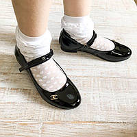Детские кожаные туфли на застежке