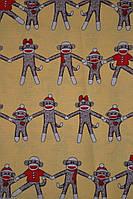 Хлопковая ткань Америка Обезьянки