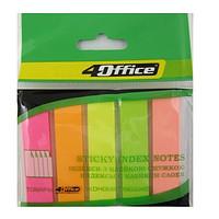 Индексы с липким слоем 4Office 4-427 пластик 5х20 12х44