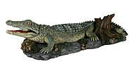 Декорация Trixie Crocodile with Air Outlet для аквариума крокодил, полиэфирная смола, 26 см