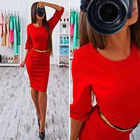 Платье миди женское, платье классическое до колен, разные цвета и размеры.