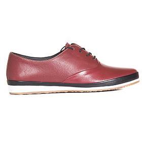 Туфли кожаные tr6005bordo