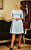 """Деловое женское платье """" Жаклин """"  голубого цвета"""