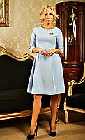 """Деловое женское платье """" Жаклин """"  голубого цвета, фото 1"""