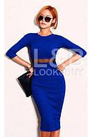 Платье миди женское со вставкой из сеточки, платье классическое до колен, разные цвета и размеры.