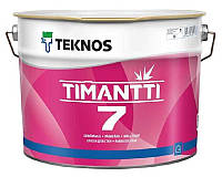Краска для влажных помещений TEKNOS TIMANTTI 7 антисептическая белая (база 1) 9л