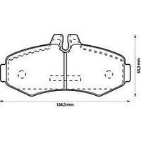 571946J Jurid/Bendix колодки передние