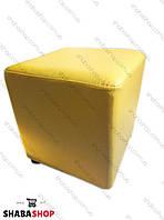 Пуф квадрат желтый