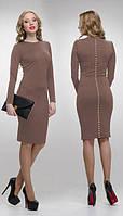 """Платье миди женское-футляр """"на каждый день"""", платье классическое ниже колен, разные цвета и размеры."""