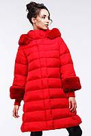 Яркое пальто на прохладную зиму
