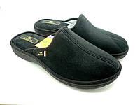 Комнатные мужские тапочки Spesita, черные 17-783 TAD black  (40-45)