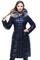 Зимнее пальто  с неотстежным капюшоном