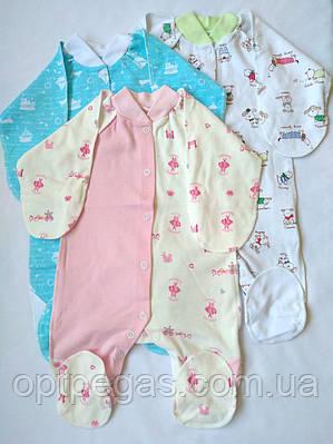 Чоловічок для новонародженого інтерлок з принтом на кнопках  продажа ... baf779b7a60e1