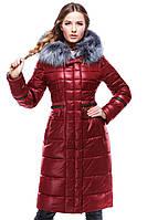 Легкое пальто бордового цвета