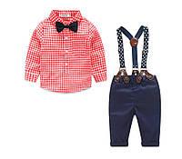 Нарядный костюм для мальчика штаны и рубашка с бабочкой