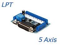 Интерфейсная плата  LPT на 5 координат  BL-MACH-V1.1