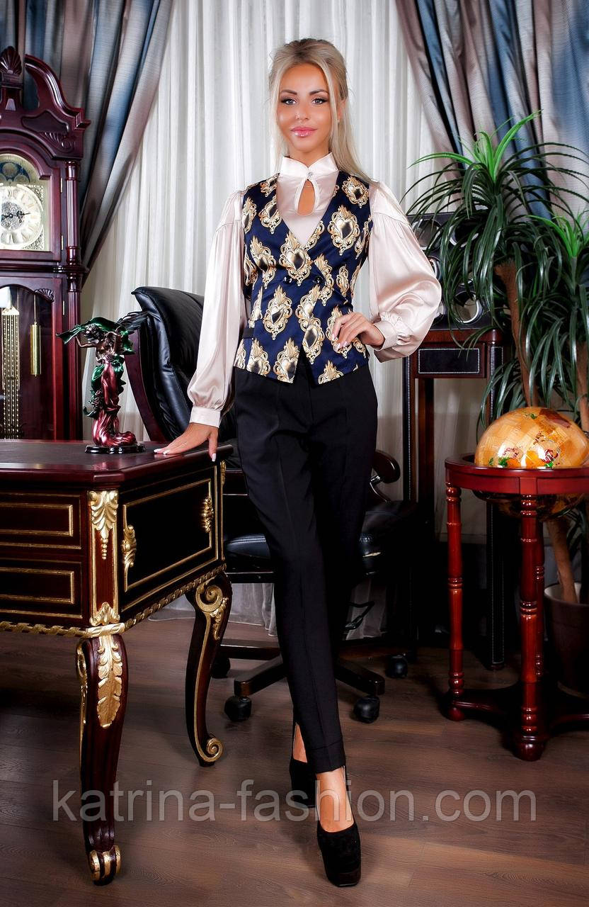 Женский костюм: жилет и брюки (3 цвета)
