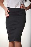Класическая женская юбка-карандаш черного цвета, фото 1