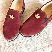 Детские кожаные туфли на девочку