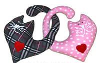 """Набор дизайнерских декоративных подушек """"Влюбленные котики"""". Любое сочетание цветов по Вашему вкусу!"""