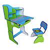 Парта со стульчиком Baby Tilly Веселой учебы (E2071 GREEN-BLUE)