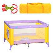 Манеж M 1546, детский, фиолетово/желтый