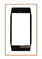 Сенсор (тачскрин) Nokia X7 с рамкой Black Original