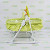 Детский шезлонг-люлька TILLY (BT-BB-0003 GREEN)