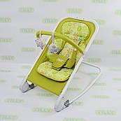 Детский шезлонг TILLY (BT-BB-0005 GREEN) со съемной дугой